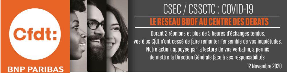 BDDF Réseau / CSSCTC Protocole sanitaire