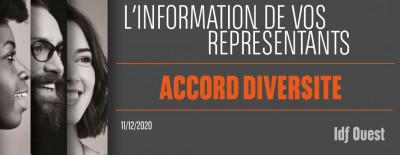 L'info de vos représentants : Accord Diversité