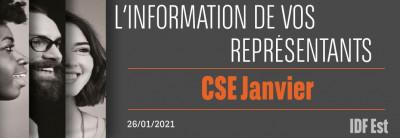 L'information de vos représentants : CSEE Janvier 2021