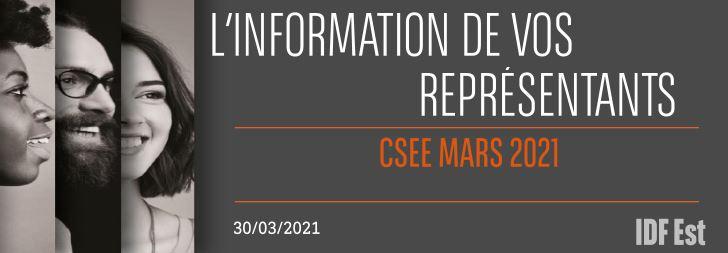 CSEE Mars 2021 : Prime, RTT, Horaires de travail